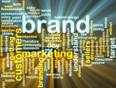 Marca Marketing Wordcloud brilhante