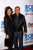 LOS ANGELES - OCT 8:  Julie Chen, Les Moonves at the CBS Daytime After Dark Event at Comedy Store on