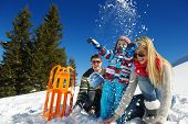 picture of family ski vacation  - Winter season - JPG