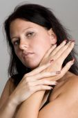 Young Woman With Manicured Hands