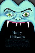picture of ugly  - illustration of screaming monster for Halloween message - JPG