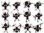Cute Cartoon Style Of Cupid