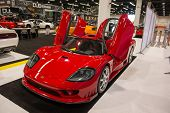 ANAHEIM, CA - OCTOBER 3: A Saleen S7 on display at the Orange County International Auto Show in Anah