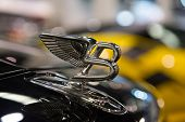 ANAHEIM, CA - OCTOBER 3: A Bentley hood ornament on display at the Orange County International Auto