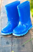 Blue Child's Wellington Boots