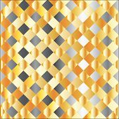 Gold and silver chequered background
