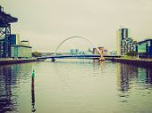 Retro Looking River Clyde