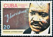 Cuba - Circa 1986: A Stamp Printed In Cuba Shows Martin Luther King, I Have A Dream, Circa 1986