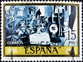 Spain - Circa 1978: A Stamp Printed In Spain Shows Las Meninas By Pablo Picasso, Circa 1978