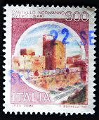 A stamp printed in Italy shows Castello Normanno Svevo - Bari Italian series of castles
