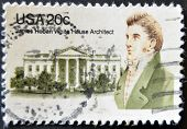 United States - Circa 1981: Stamp Printed In Usa, Shows Architect Of White House, Circa 1981