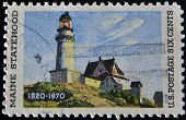 United States Of America - Circa 1970: A Stamp Printed In The Usa Shows Maine Statehood, Circa 1970