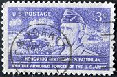 United States - Circa 1953: Stamp Printed In Usa, Shows General Patton, Circa 1953