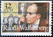 Usa - Circa 1997 : Stamp Printed In Usa Show Swedish Humanitarian Raoul Wallenberg, Circa 1997