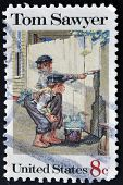 United States Of America - Circa 1972: A Stamp Printed In Usa Shows Tom Sawyer, Circa 1972
