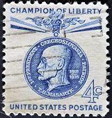 United States - Circa 1960: Stamp Printed In Usa, Shows Thomas G. Masaryk, Circa 1960