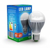 LED lamp with package box