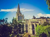 Retro Looking Glasgow Cathedral