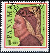Postage Stamps Printed In Panama, Shows An Italian Writer, Poet, Dante Alighieri
