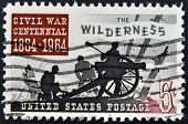 A stamp printed in USA shows image of the dedicated to the Civil War Centennial 1864 - 1964
