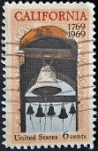United States Of America - Circa 1969: Stamp Printed In Usa, Shows Carmel Mission Belfry, California