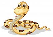 picture of long tongue  - Illustration of a scary snake on a white background - JPG