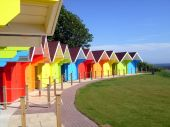 Colorful Beach Chalets