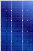stock photo of solar battery  - Detailed vector illustration of blue silicon photovoltaic electric solar panel texture - JPG