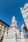 Statue Of Dante Alighieri In Florence, Italy