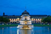Kurhaus Wiesbaden At Night