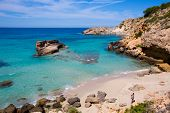Cala Tarida in Ibiza beach Sant Josep at Balearic Islands