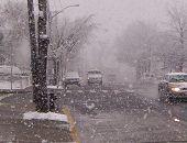 Blizzard In A Suburban Neighborhood