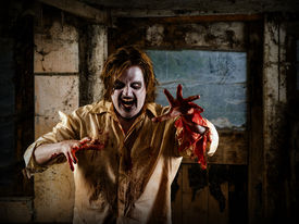 image of madman  - Photo of a hungry zombie about to attack you - JPG