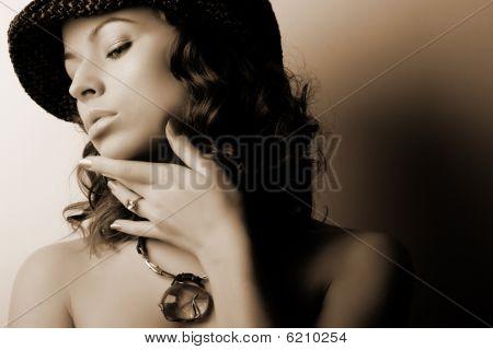 Постер, плакат: & Мода макияж, холст на подрамнике