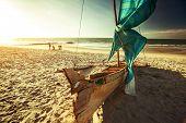 Traditional Malagasy sail boat. Morondava, Madagascar