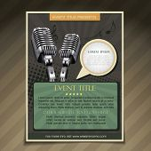 vector event  brochure flyer poster template