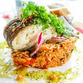 Fine dining cuisine - french dish on the table
