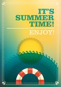 Summer time illustration. Vector illustration.