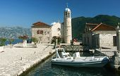 Church at islet in the bay of Kotor, Montenegro