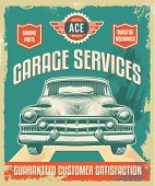 stock photo of auto garage  - Vintage metal sign  - JPG