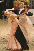 Bailarines de salón de baile: Maria Talpiga / Bogdan Talpiga