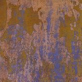 Purple Brown 3D Abstract Grunge Paint Layer Wall