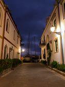 foto of nightfall  - nightfall in Puerto de Mogan at Gran Canaria - JPG