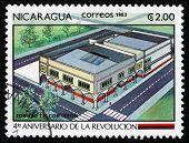 Postage Stamp Nicaragua 1983 Telecommunications Building, Leon