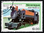Postage Stamp Nicaragua 1981 Vulcan Iron Works, 1946, Locomotive
