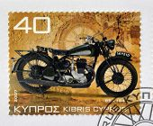 CYPRUS - CIRCA 2007: A stamp printed in Cyprus shows a motorbike BSA 1940 circa 2007