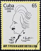 CUBA - CIRCA 2005: A stamp printed in Cuba shows Albert Einstein
