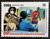 stamp 50 anniversary of the triumph of the revolution shows program of the battle of ideas