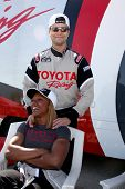 LOS ANGELES - MAR 15:  Colin Egglesfield, Carmelita Jeter at the Toyota Grand Prix of Long Beach Pro