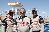 LOS ANGELES - MAR 15:  Al Unser Jr, Eric Braeden, Kyle Petty at the Toyota Grand Prix of LB Pro-Cele